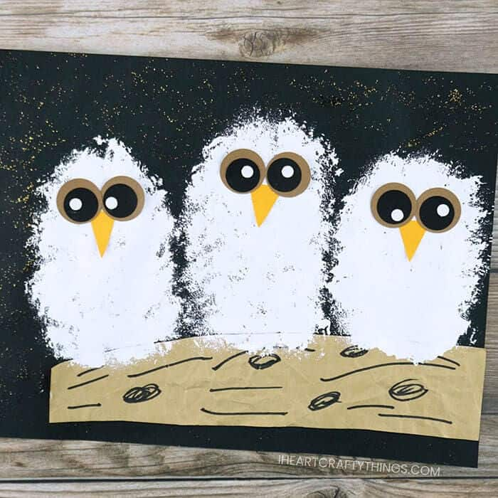 Owl Babies Craft by I Heart Crafty Things