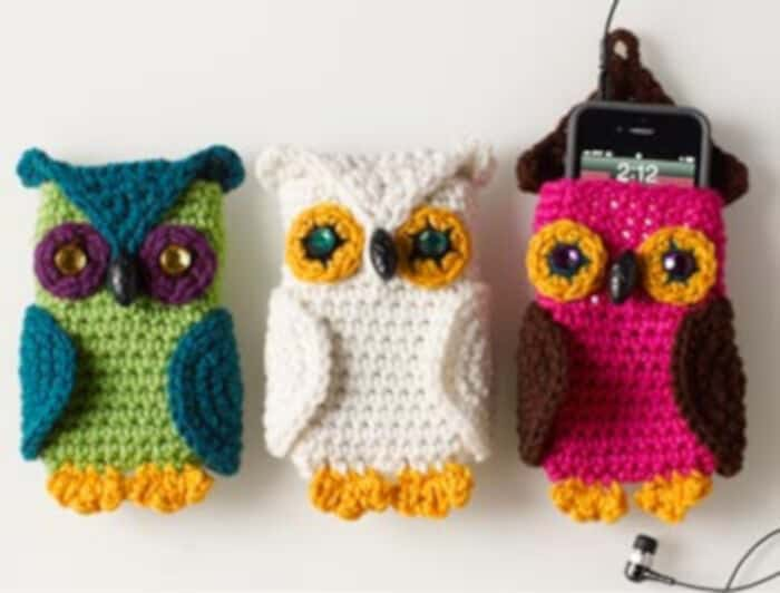 Owl Cell Phone Cozy by Craft Yarn Council