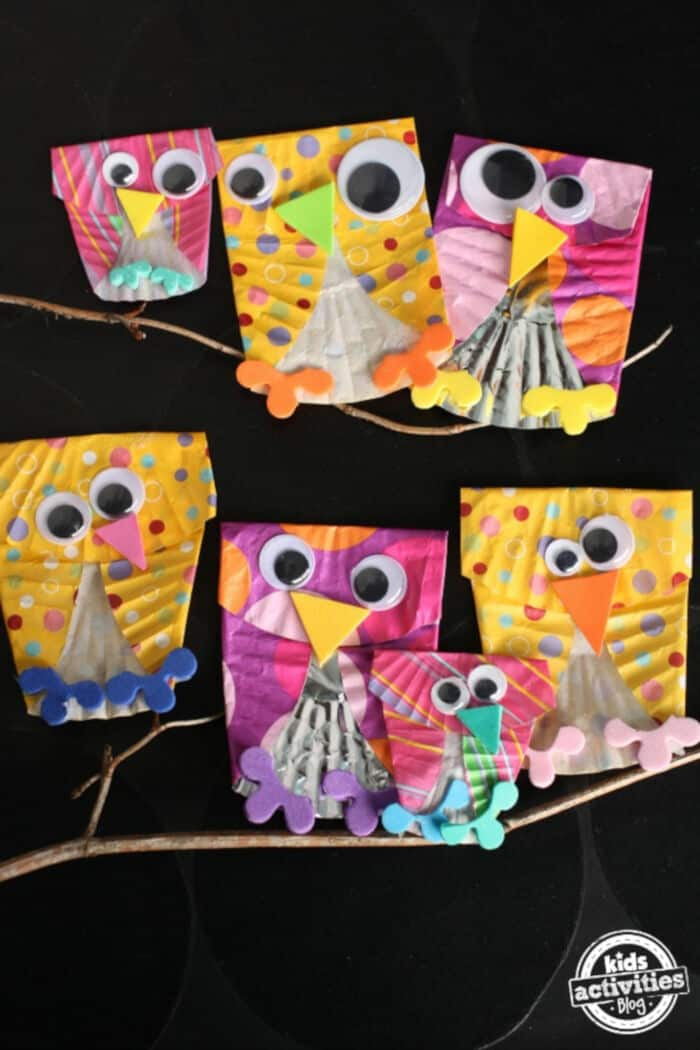Owl Craft for Skip Counting by Kids Activities