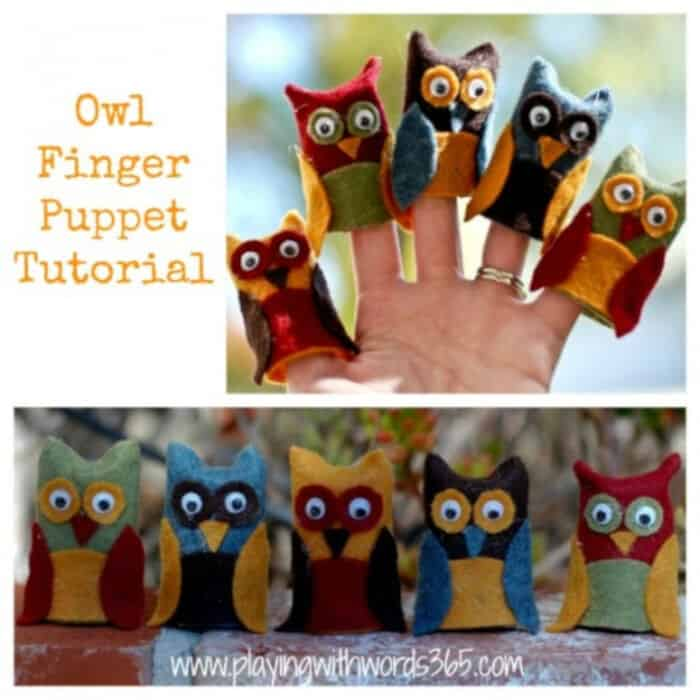 Owl Finger Puppet Tutorial by Playing With Words 365