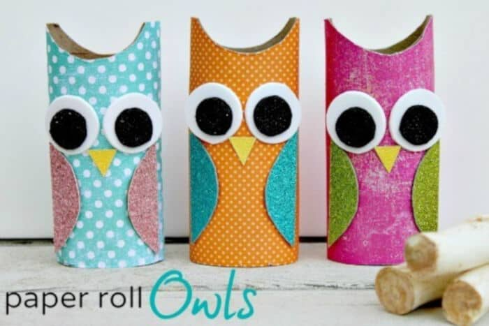 Owl Paper Roll Craft by The Centsible Life