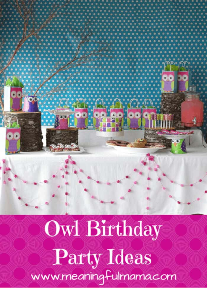 Owl Party Ideas by Meaningful Mama