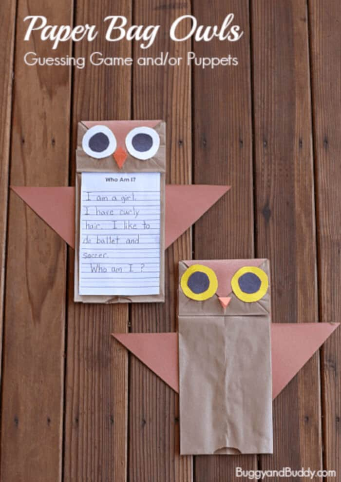 Paper Bag Owls by Buggy and Buddy
