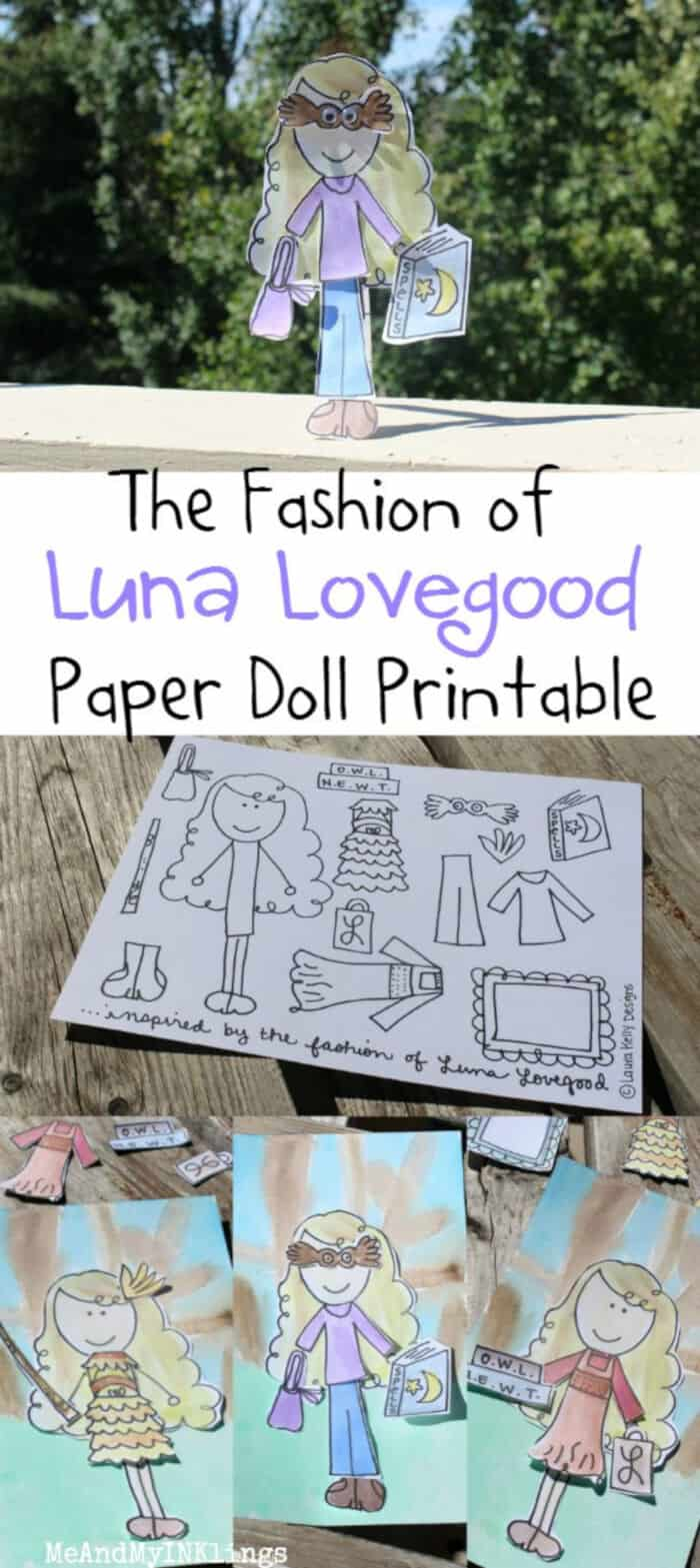 Paper Doll Fun with Luna Lovegood by Me and My Inklings