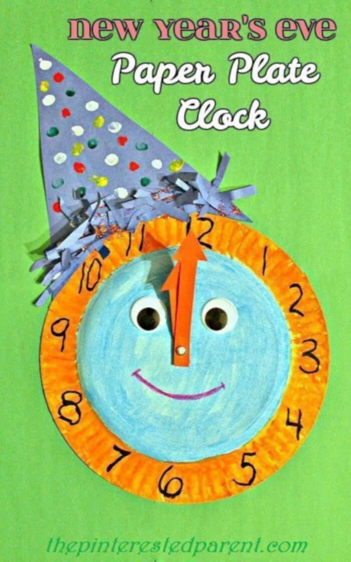 Paper Plate Celebration Clock by The Pinterested Parent
