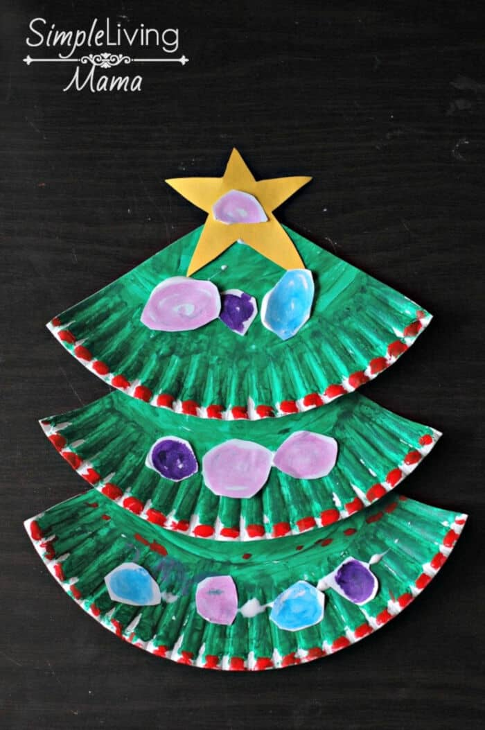 Paper Plate Christmas Tree Craft by Simple Living Mama