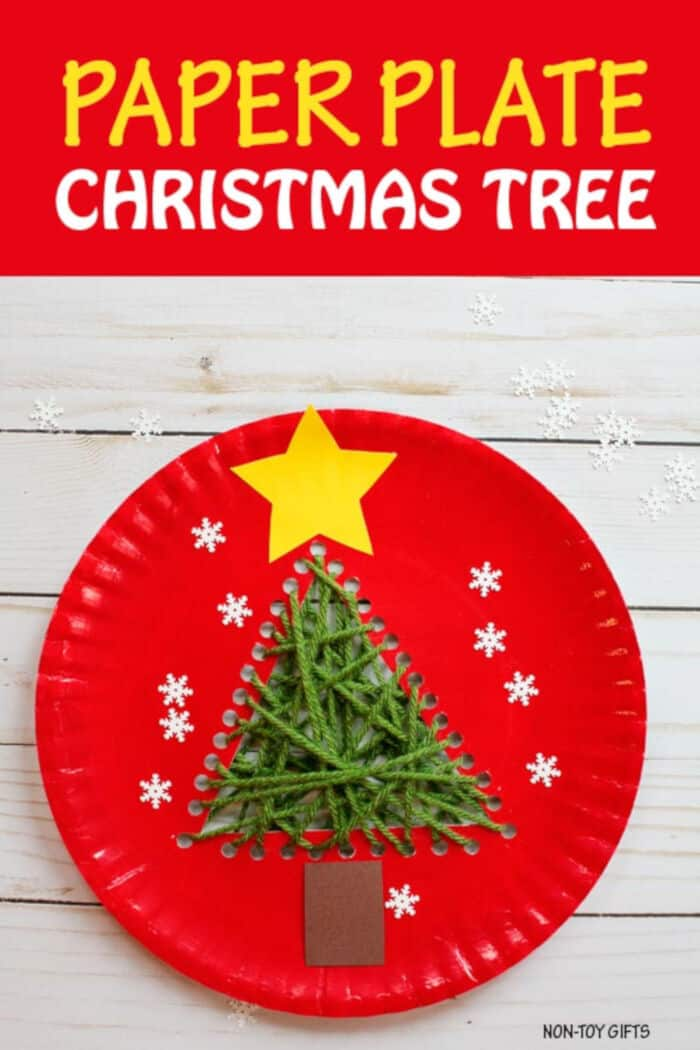 Paper Plate Christmas Tree by Non-Toy Gifts