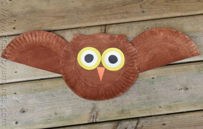 Paper Plate Owl Craft by Crafts by Amanda