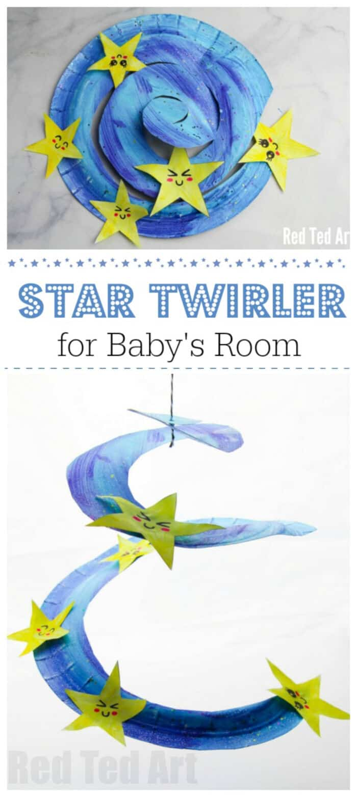 Paper Plate Star Twirler by Red Ted Art