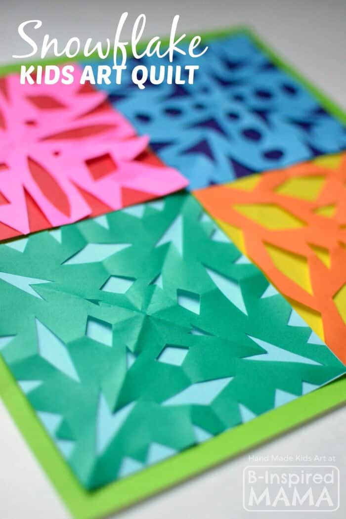 Paper Snowflakes Quilt by B-Inspired Mama