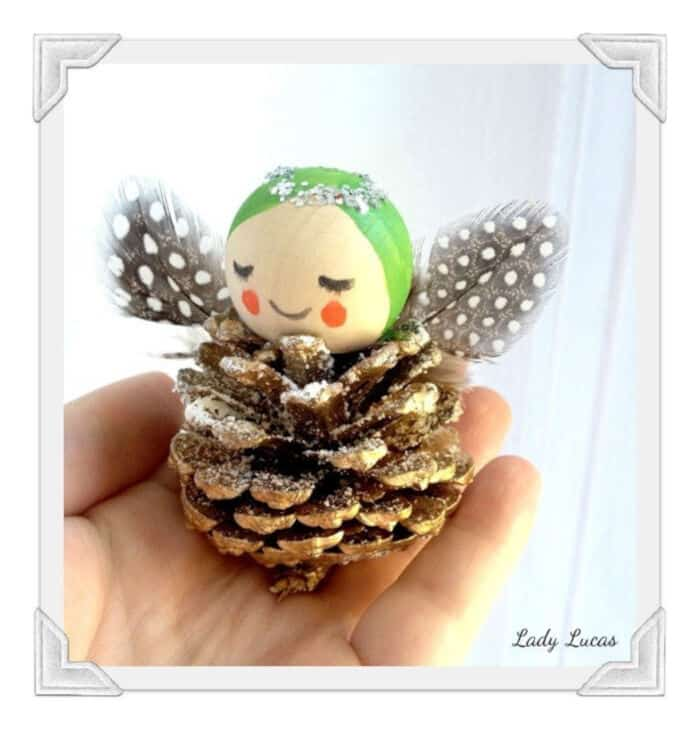 Pine Cone Angels Tutorial by Art of Crafts