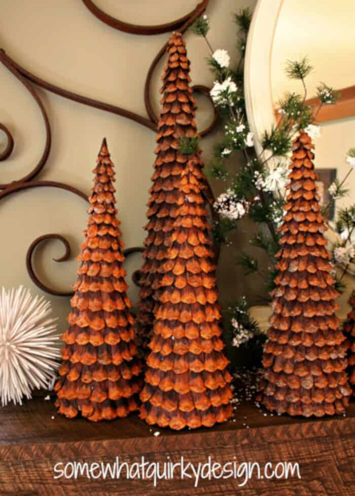 Pine Cone Christmas Trees by Somewhat Quirky