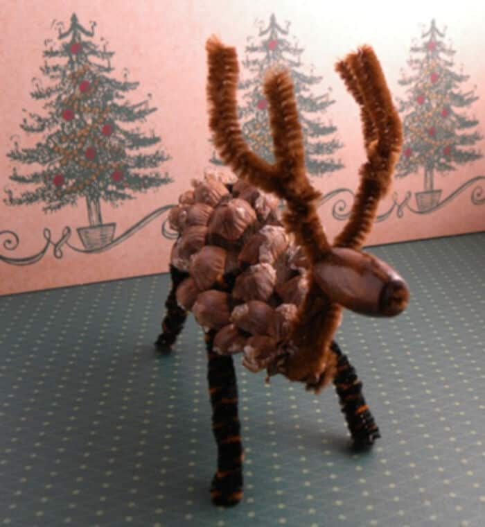 Pine Cone Reindeer by Sweet Party Place