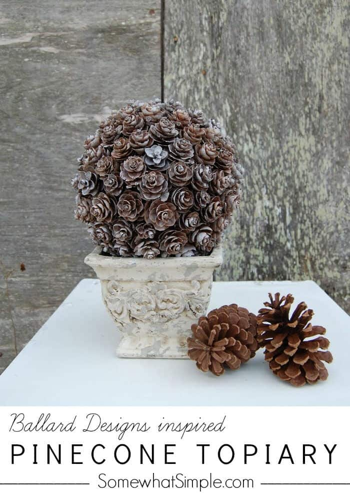 Pine Cone Topiary by Somewhat Simple