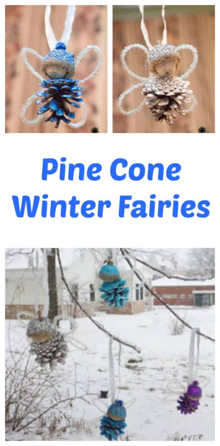 Pine Cone Winter Fairies by Life with Moore Babies