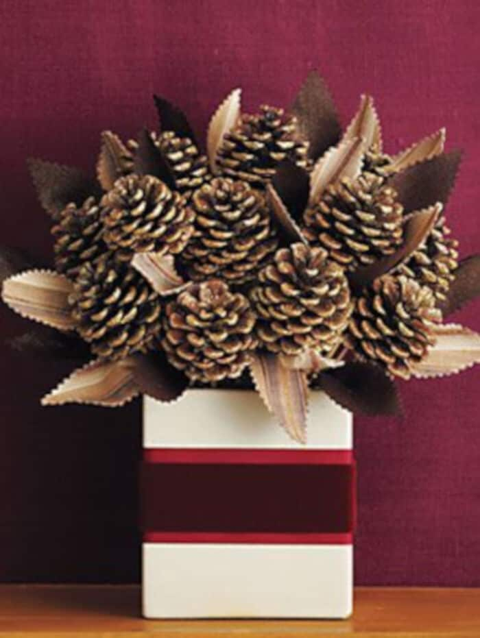 Pinecone Bouquet by Womans Day