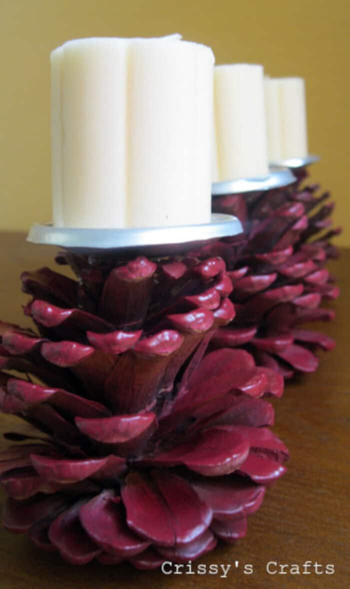 Pinecone Candle Holder by Crissy Crafts