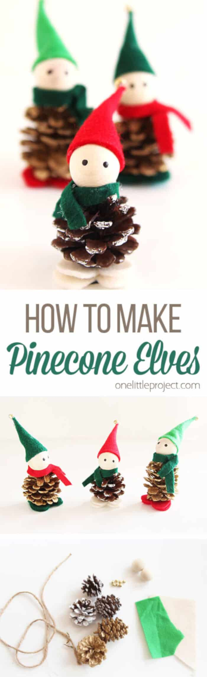 Pinecone Elves by One Little Project