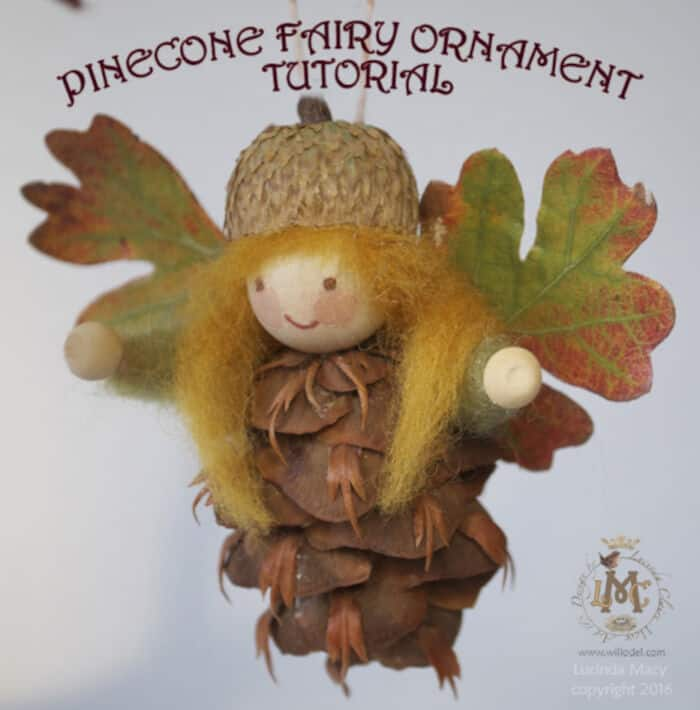 Pinecone Fairy Ornament by Willodel