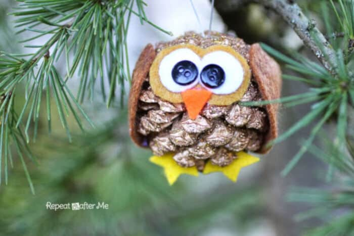 Pinecone Owl Ornament by Repeat Crafter Me