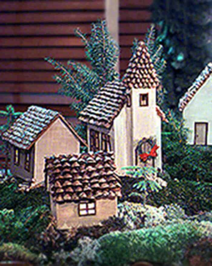 Pinecone Village by Martha Stewart
