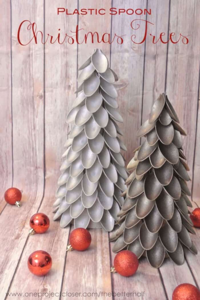 Plastic Spoon Christmas Tree! by One Project Closer
