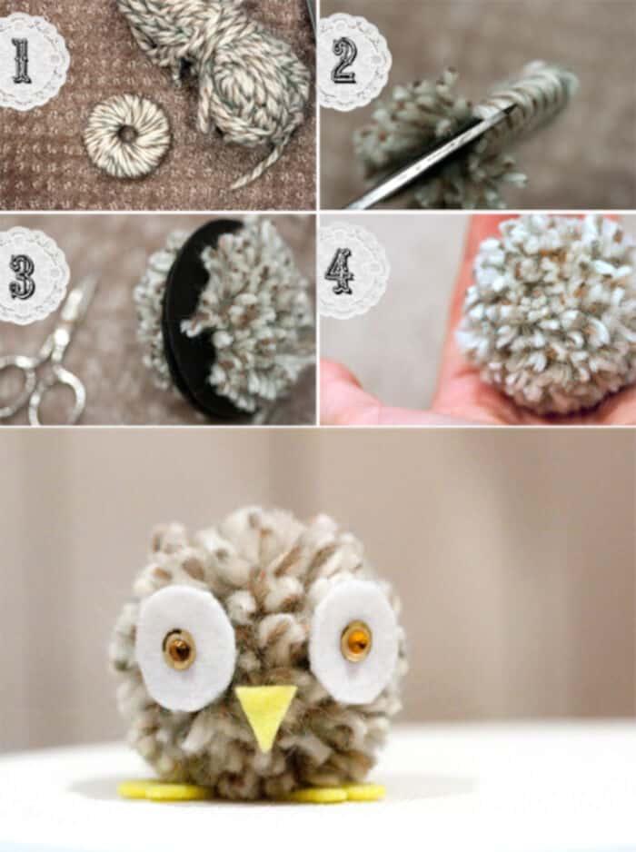 Pompom Owl by FISKD