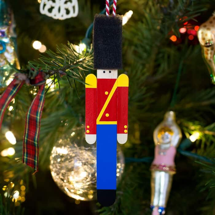 Popsicle Stick Toy Soldier Ornament by Fireflies and Mud Pies