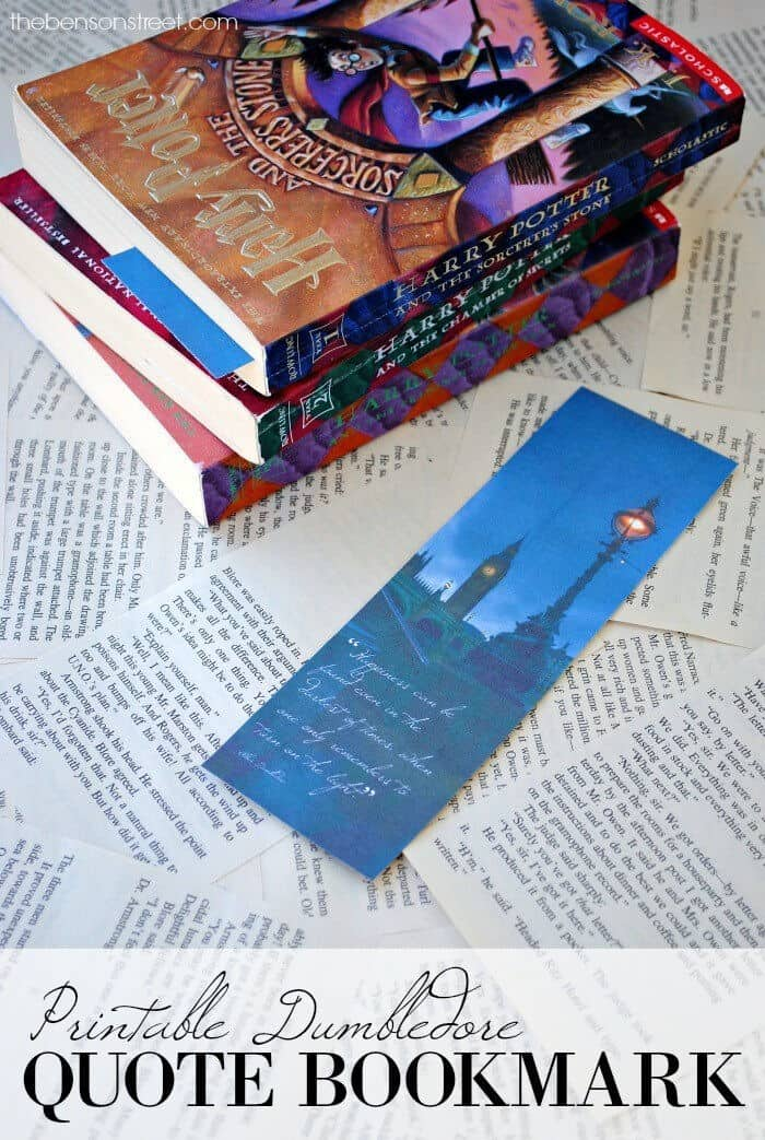 Printable Dumbledore Quote Bookmark by The Benson Street