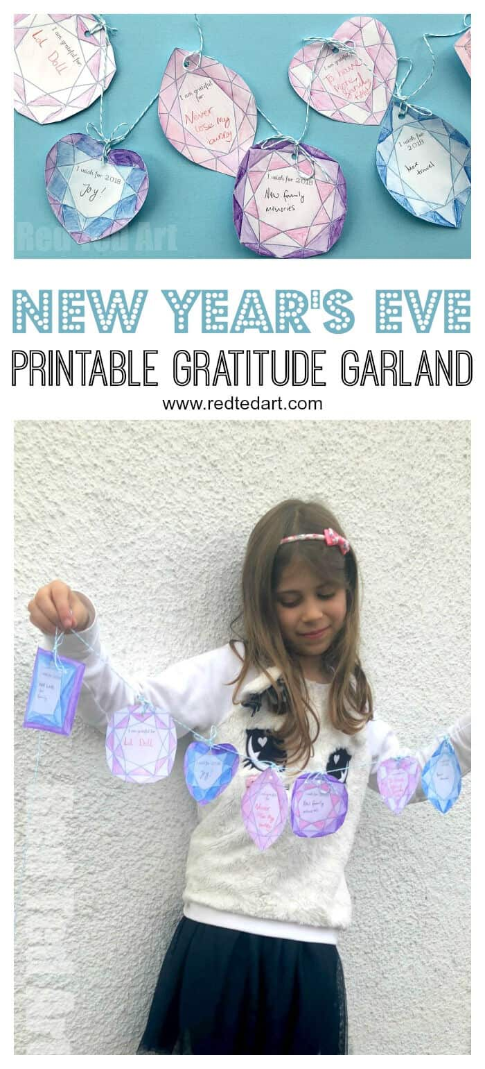 Printable New Years Eve Garland by Red Ted Art