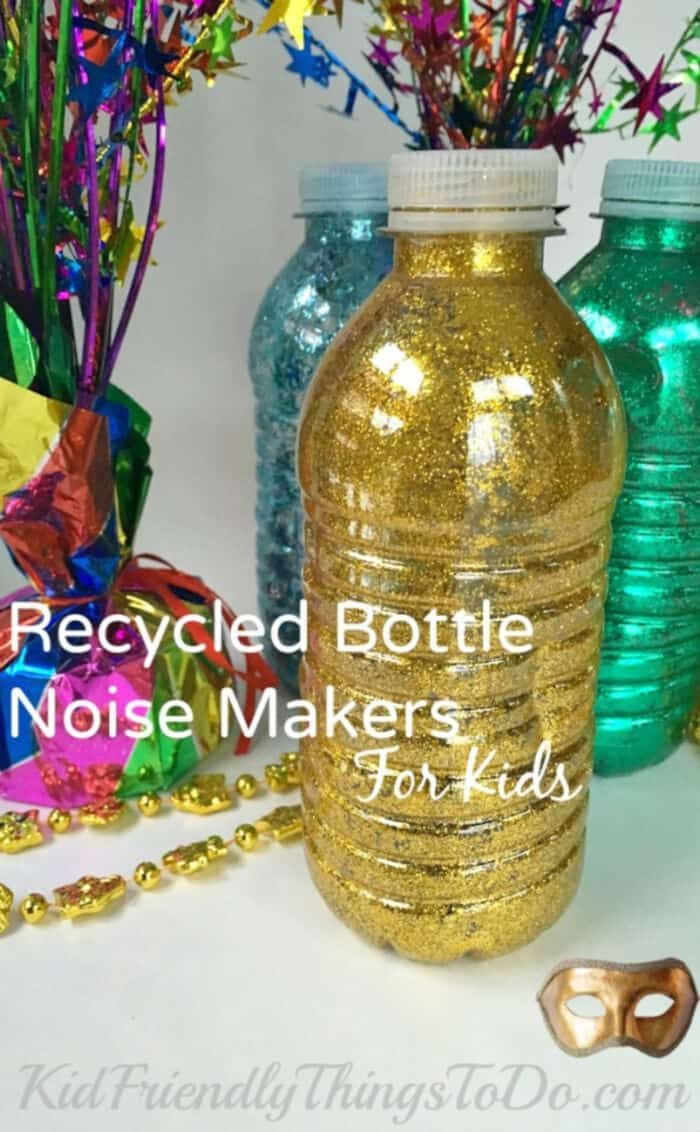 Recycled Bottle Noise Makers by Kid Friendly Things To Do