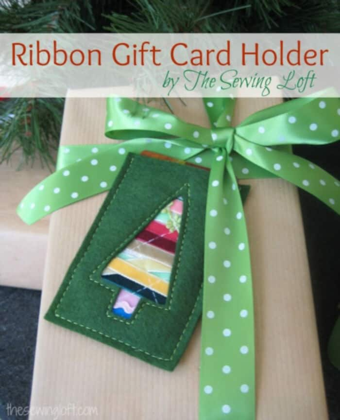 Ribbon Gift Card Holder by Skip To My Lou