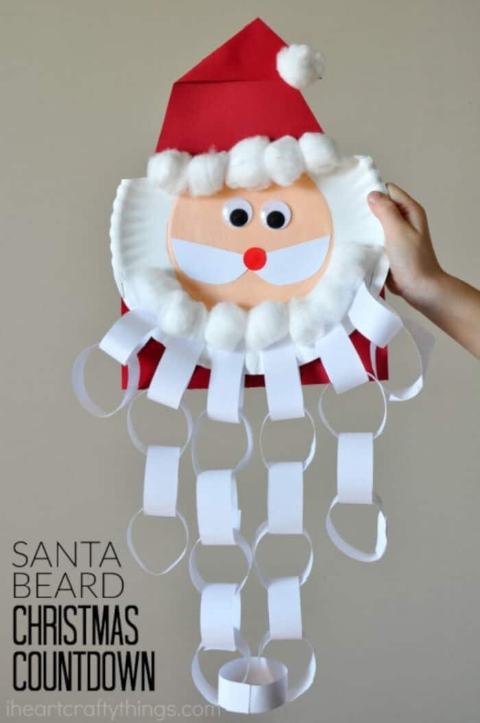 Santa Beard Christmas Countdown by I Heart Crafty Things