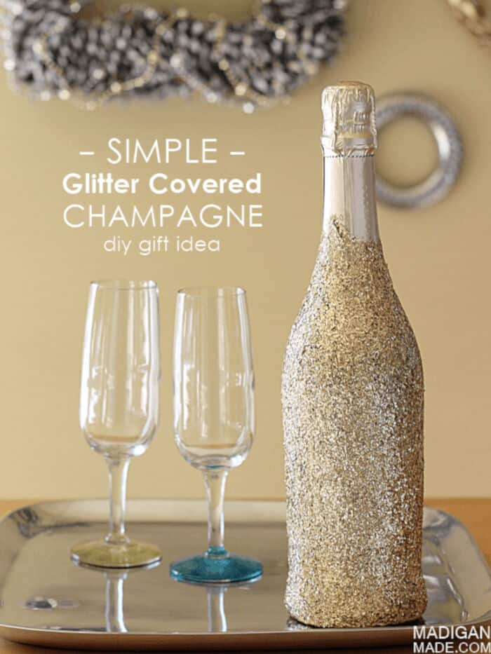 Simple Glitter Covered Champagne by Rosyscription