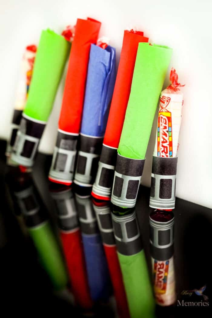Smarties Star Wars Lightsaber Craft by Busy Creating Memories