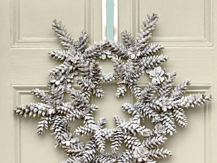 Snowy Pinecone Wreath by Southern Living