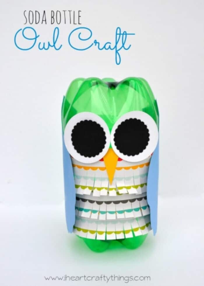 Soda Bottle Owl Craft by I Heart Crafty Things