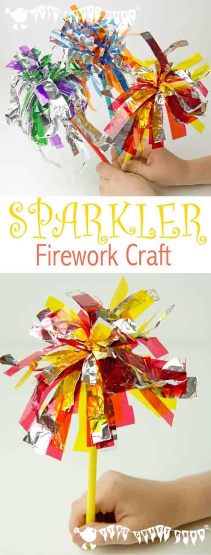 Sparkler Firework Craft for Kids by Kids Craft Room