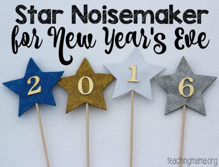 Star Noisemaker for New Years Eve by Teaching Mama