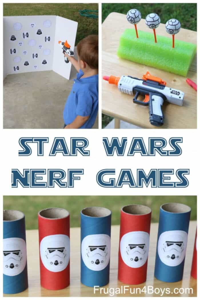Star War Themed Nerf Games by Frugal Fun For Boys and Girls