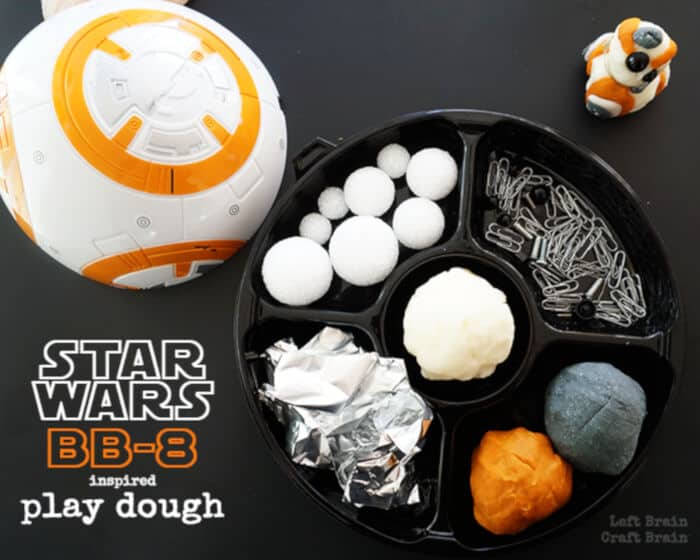 Star Wars BB-8 Inspired Play Dough by Left Brain Craft Brain