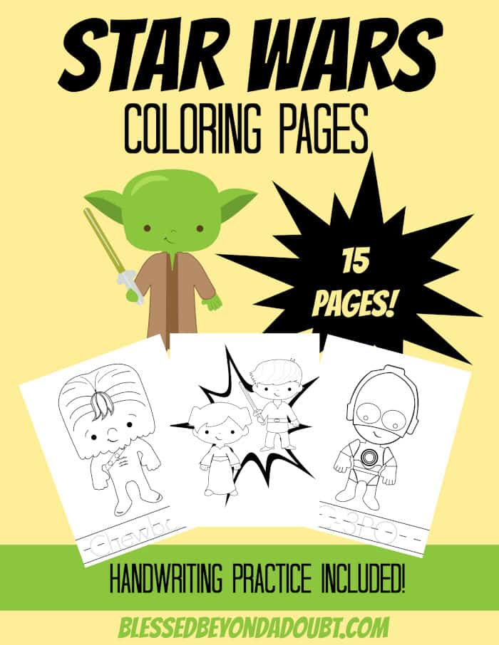Star Wars Coloring Pages by Blessed Beyond a Doubt