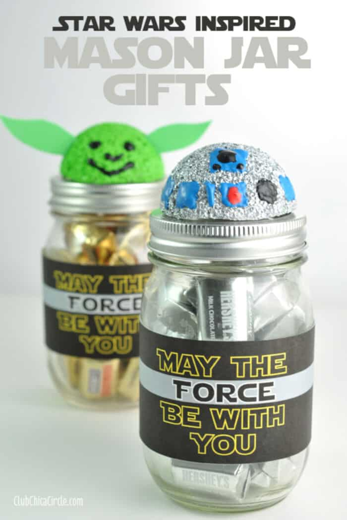 Star Wars Inspired Mason Jar Gifts by Chica Circle
