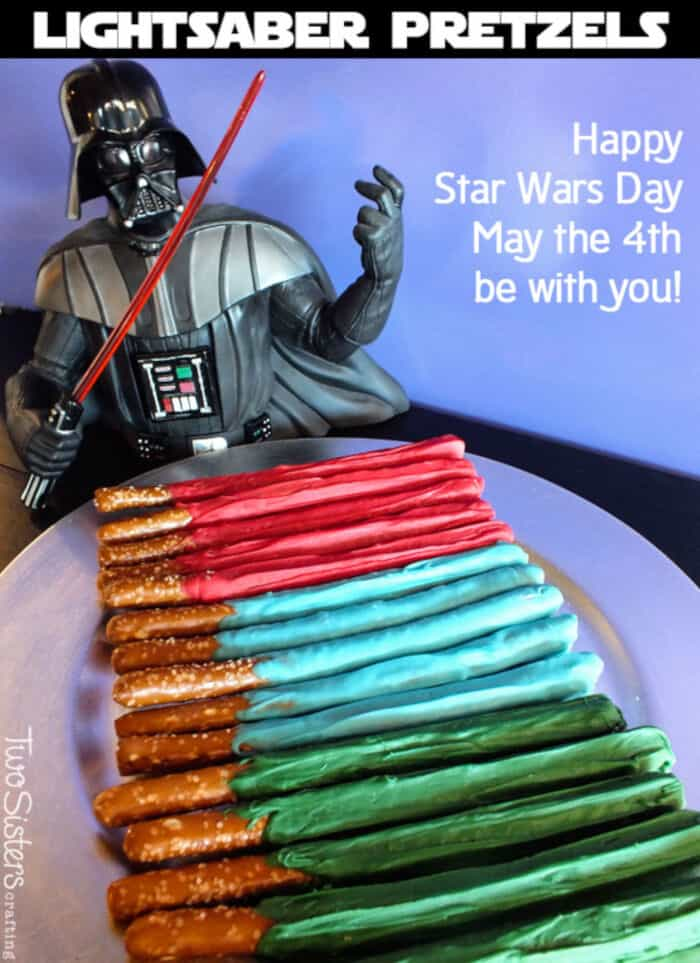 Star Wars Lightsaber Pretzels by Two Sisters