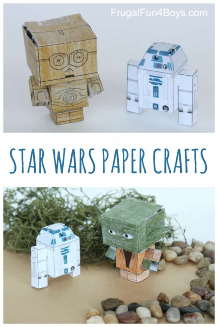 Star Wars Paper Crafts by Frugal Fun For Boys and Girls