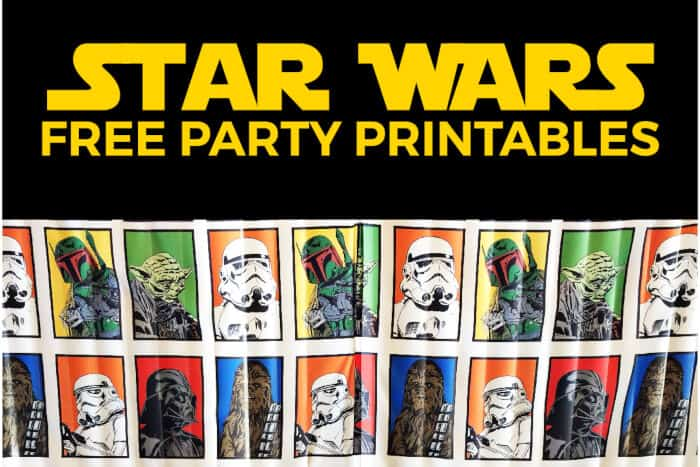 Star Wars Party Printables by Simple Everyday Mom