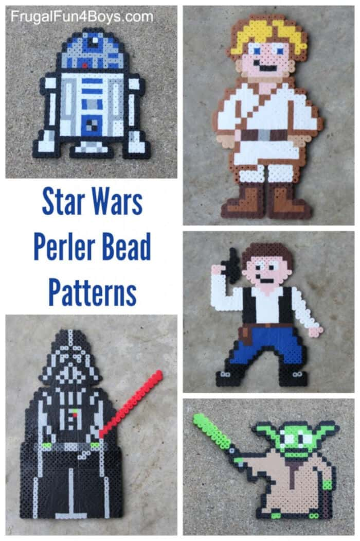 Star Wars Perler Beads Patterns by Frugal Fun For Boys and Girls