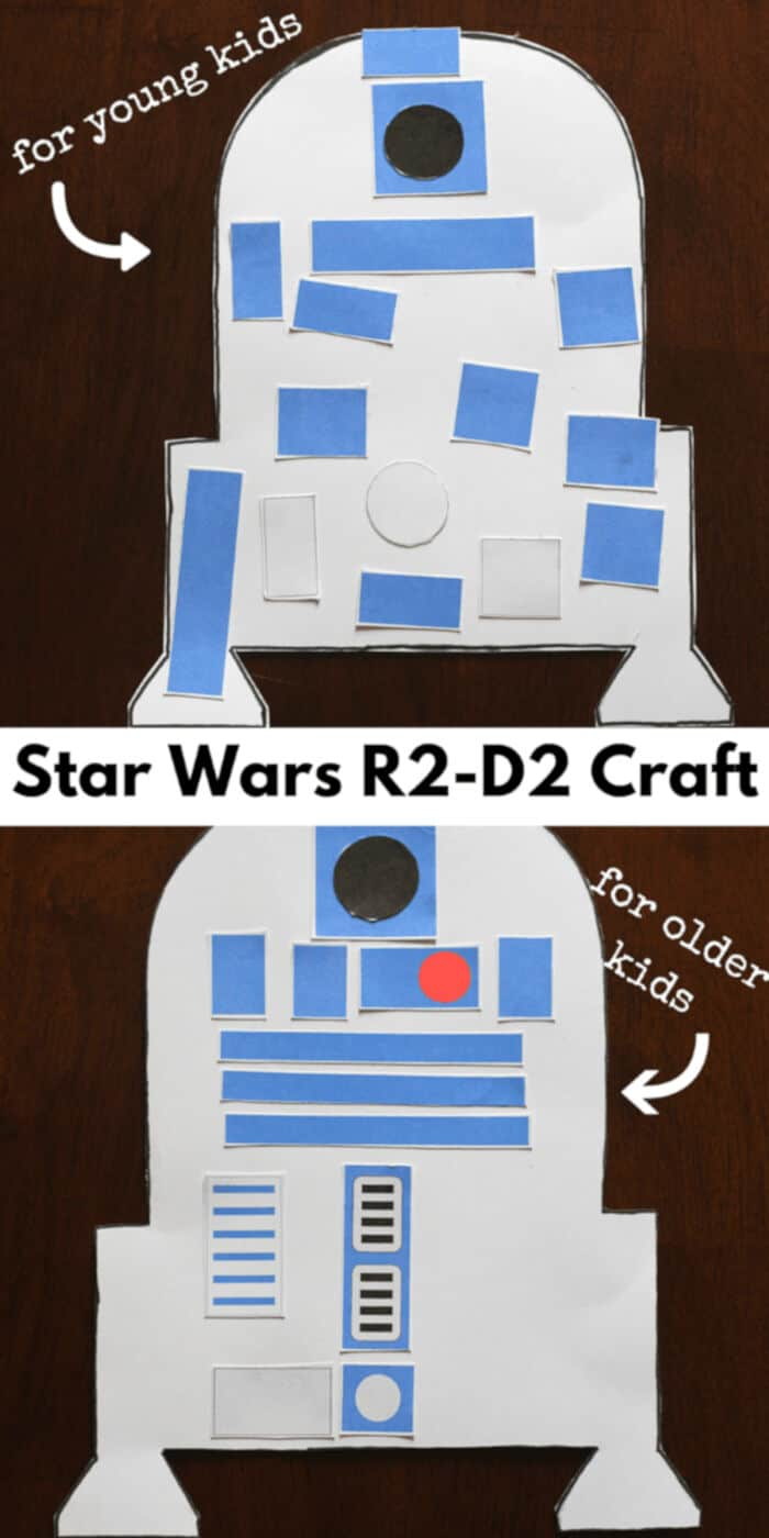 Star Wars R2-D2 Craft for Kids by Fun Learning for Kids