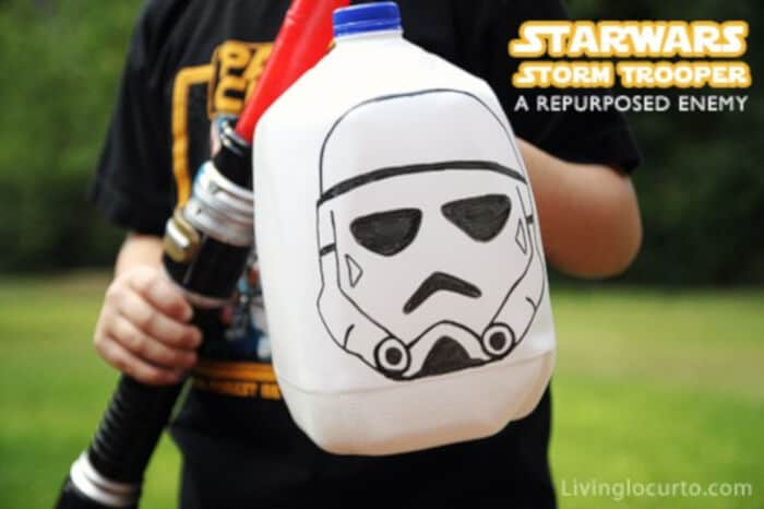 Star Wars Repurposed Milk Carton Kids Craft by Living Locurto