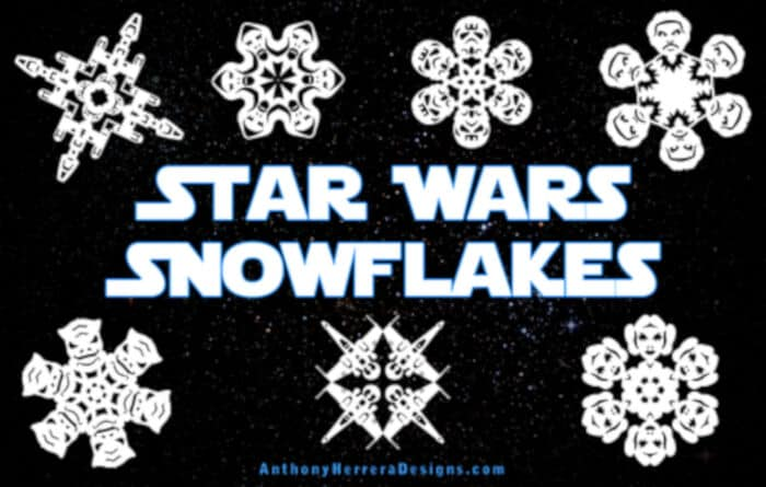 Star Wars Snowflakes by Anthony Herrera Designs